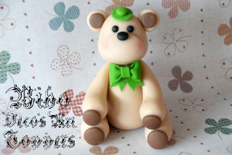Edible 3d teddy bear cakes decoration fondant topper