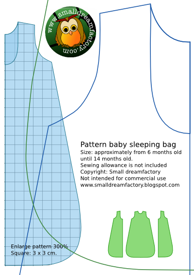 FREE Baby sleeping bag pattern
