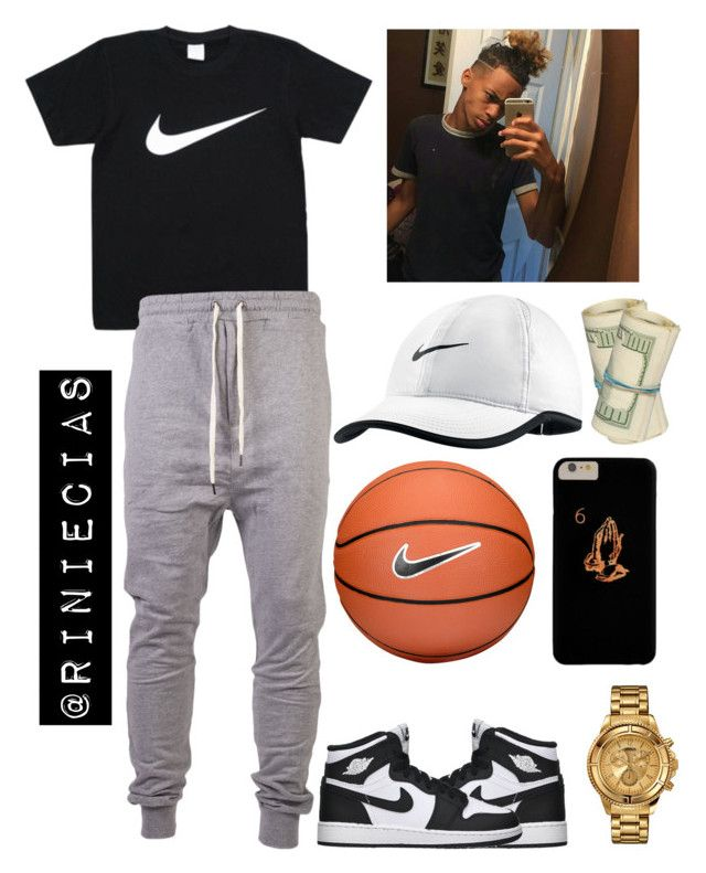 """""""I'm just FLEX'N only X bihh💪"""" by riniecias on Polyvore featuring I Love Ugly, Retrò, NIKE, Versus, men's fashion and menswear"""