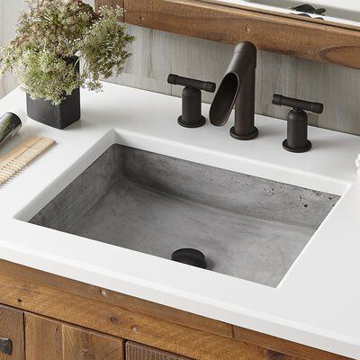 Photo of Native Trails, Inc. Nipomo Stone Rectangular Undermount Bathroom Sink Sink Finish: Ash