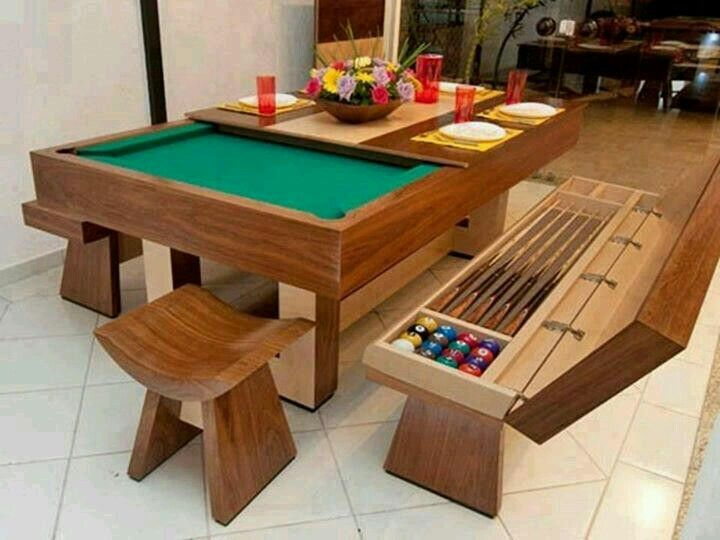 mesa comedor y de billar | Home ideas | Room, Game Room y Pool table