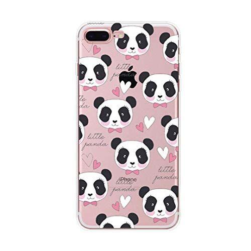 coque iphone 7 plus silicone panda