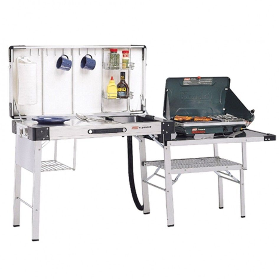Magnetic Outdoor Camp Kitchen with Sink And Coleman ...