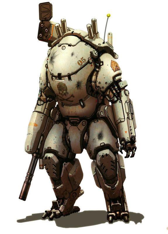 An interesting powered armor design.