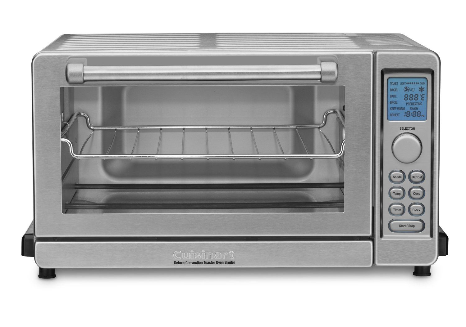 Amazon Com Cuisinart Tob 135 Deluxe Convection Toaster Oven Broiler Brushed Stainless Kitch Cuisinart Toaster Oven Cuisinart Toaster Convection Toaster Oven