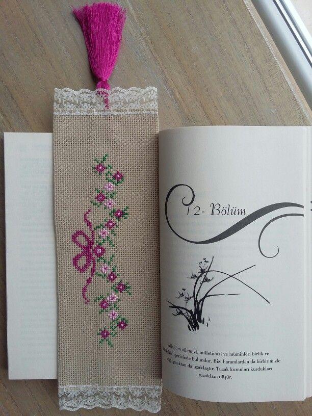 Kitap ayracı kaneviçe