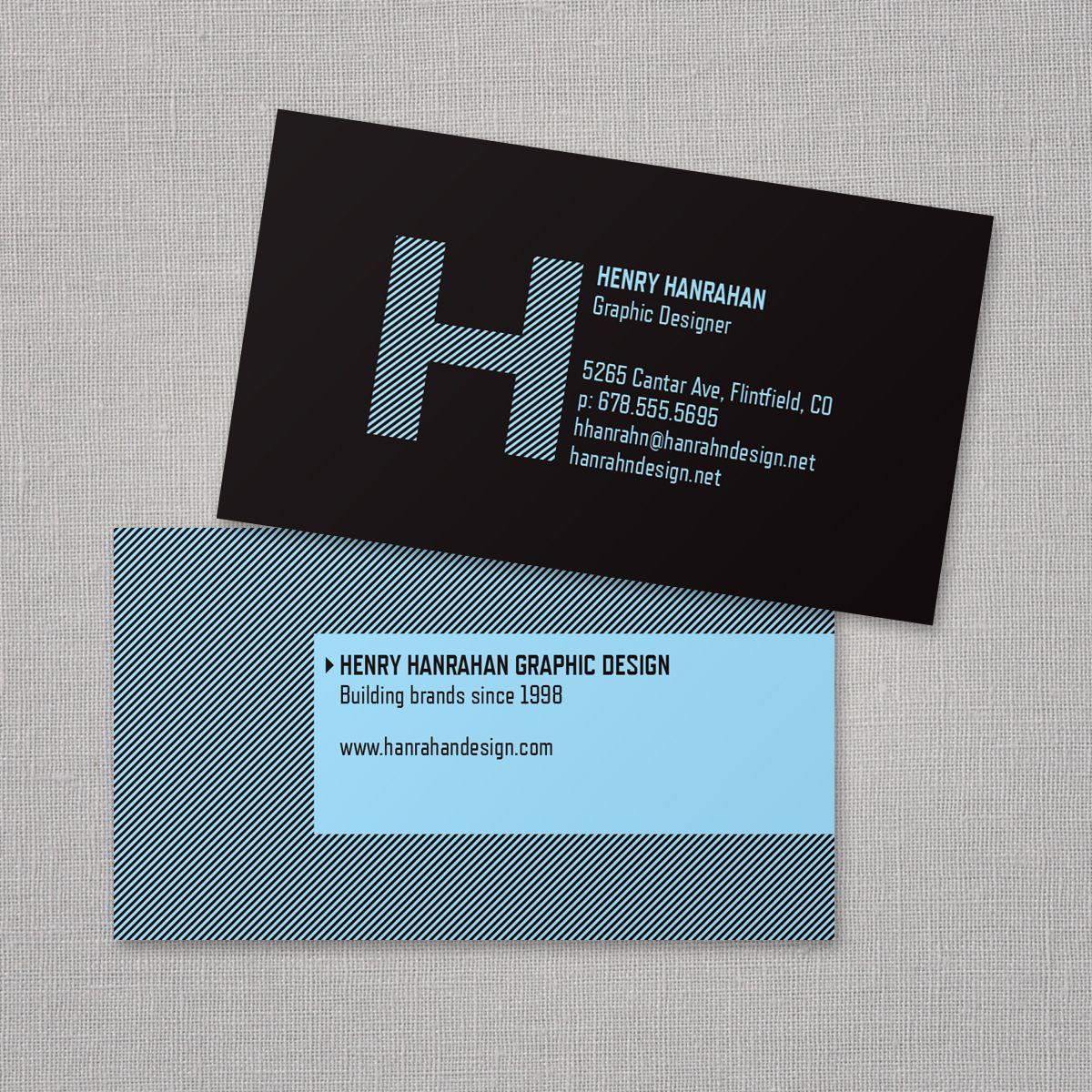 Bold Monogram Business Card | Vistaprint | Business Card Ideas ...