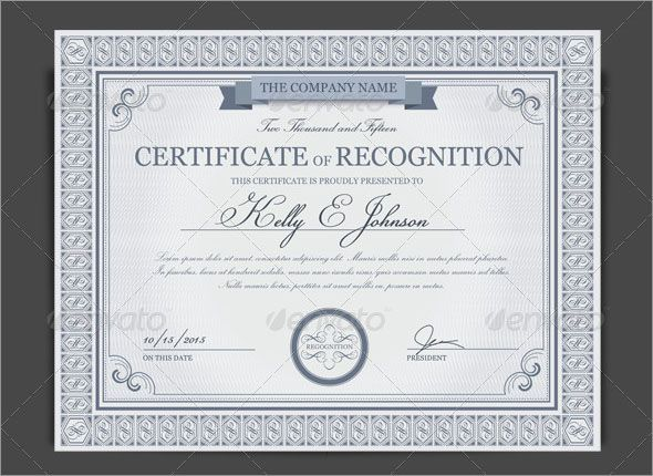 100 Amazing Photo Realistic Certificate Templates Free