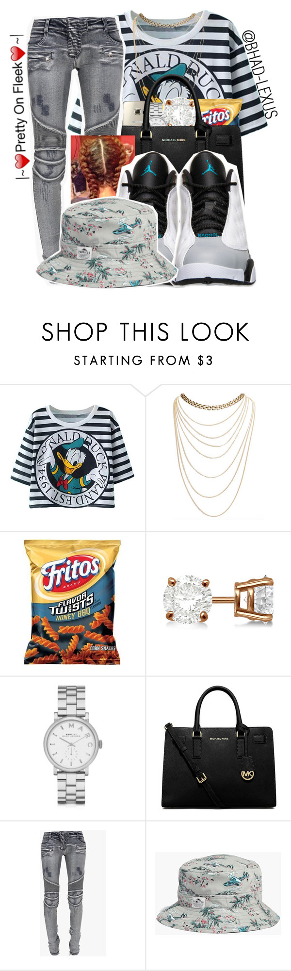 """""""Unknown#166 """" by bhad-lexus ❤ liked on Polyvore featuring Wet Seal, Allurez, Marc by Marc Jacobs, MICHAEL Michael Kors, Balmain, Retrò, Madewell, women's clothing, women and female"""