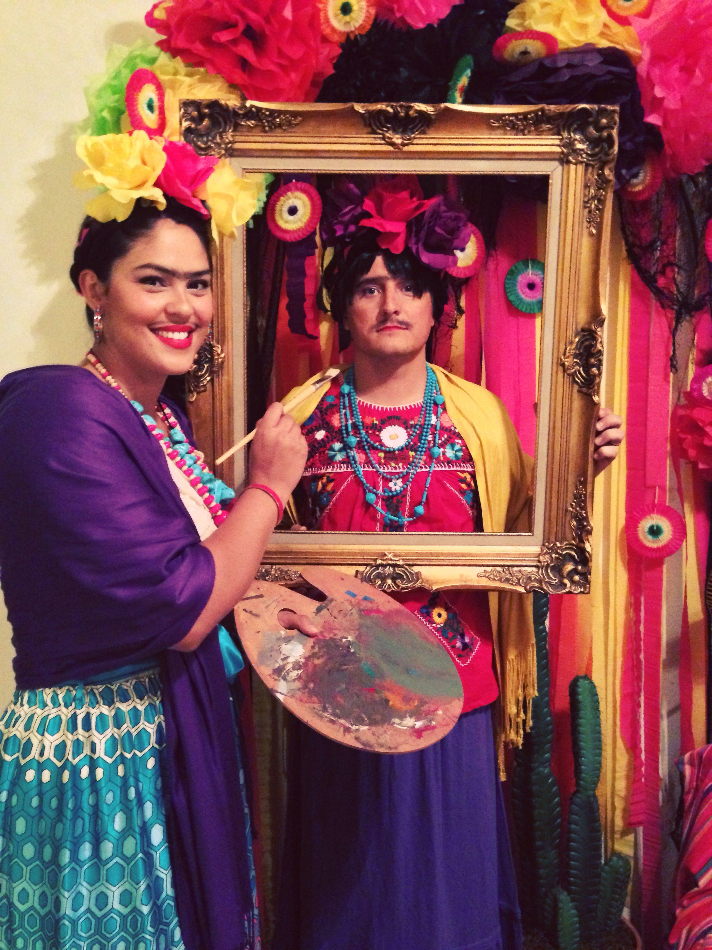 frida kahlo couple 39 s costume holidays pinterest. Black Bedroom Furniture Sets. Home Design Ideas