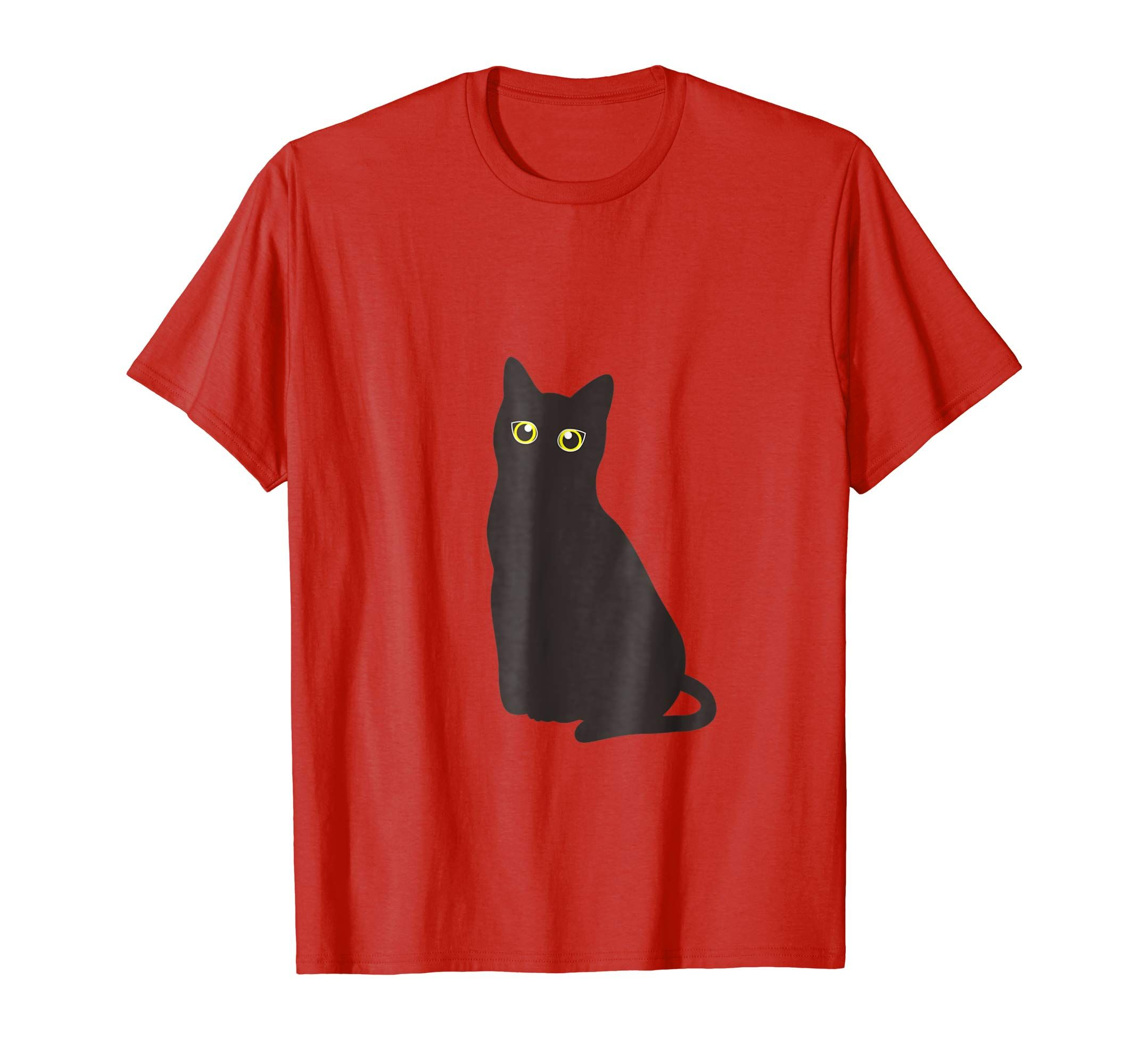 Amazon Com Cute Halloween Black Cat T Shirt With Bright Eyes T Shirt Clothing Cat Tshirt Black Cat Halloween Cute Halloween