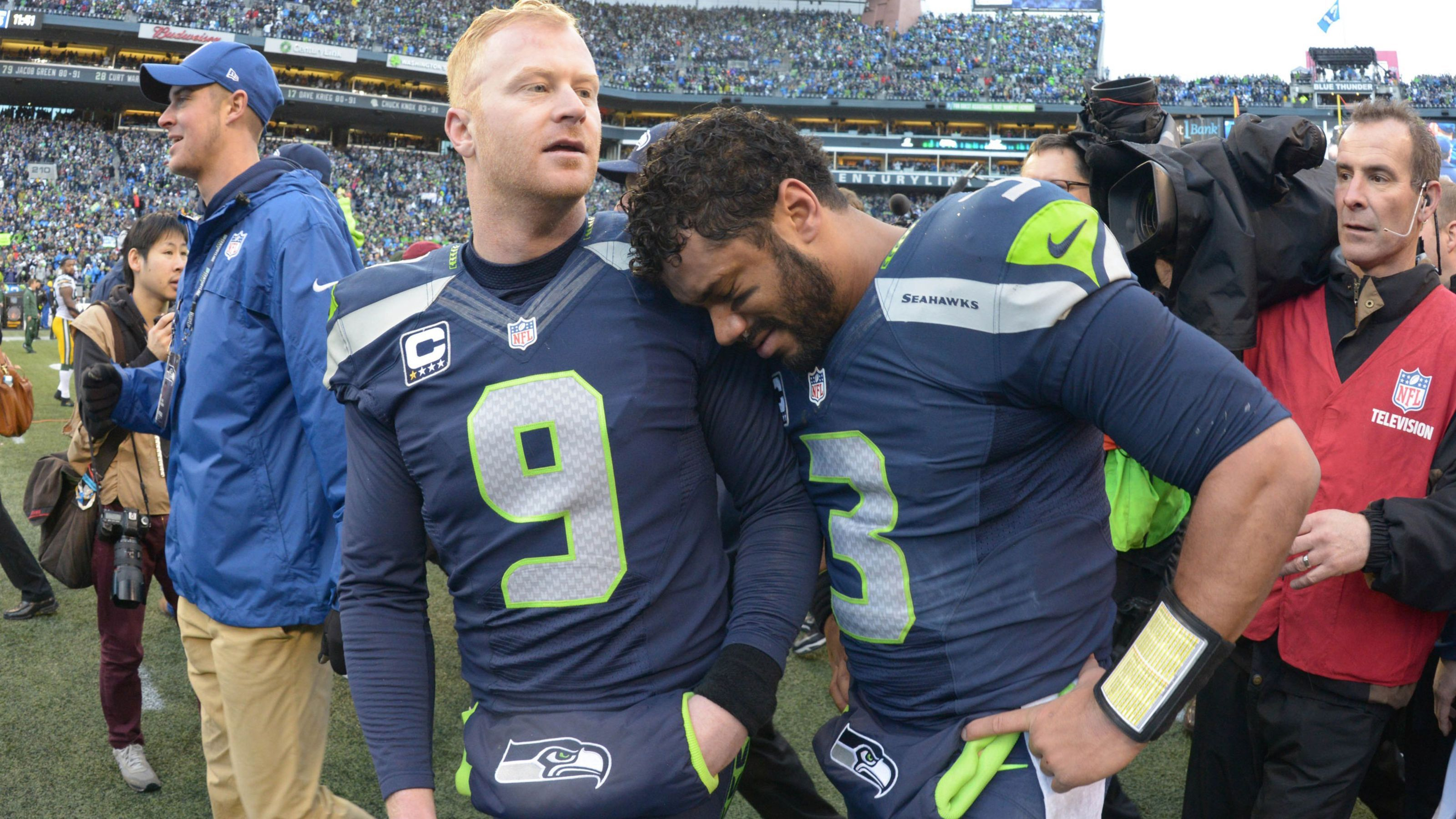 Russell Wilson Moved To Tears By Nfc Championship Win With Images Seattle Seahawks Funny Seattle Seahawks Logo Seahawks