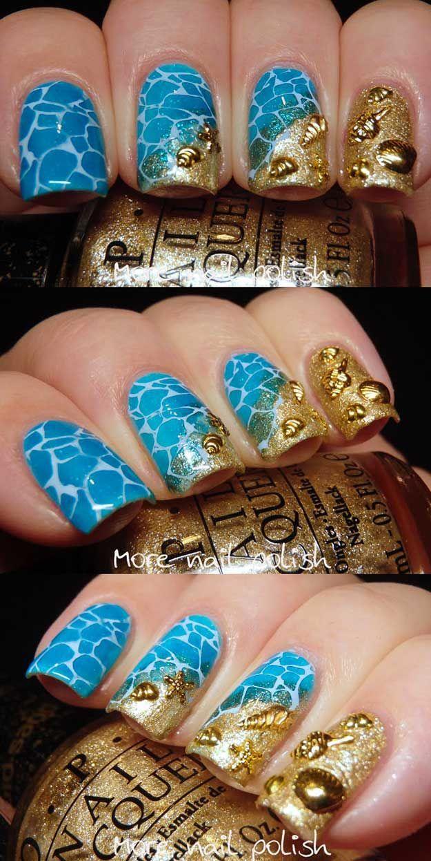 42 Cool Summer Nail Art Ideas   Summer nail art, Easy nail art and ...