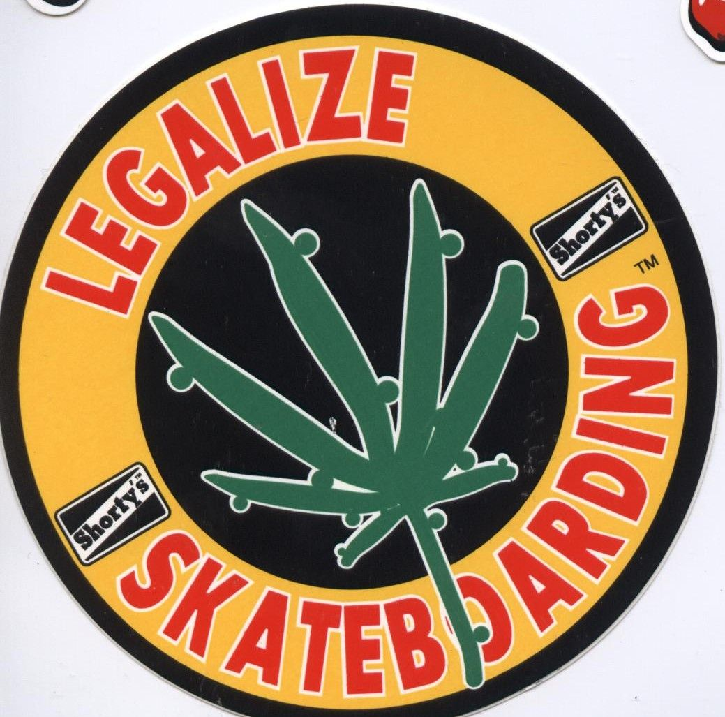 Shortys skateboards legalize skateboarding 3 5 sticker click on photo to purchase