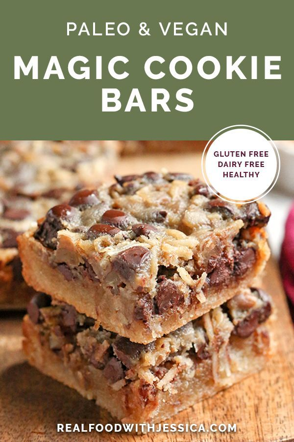 Photo of These Paleo Magic Cookie Bars are a healthier version of the classic dessert. A …