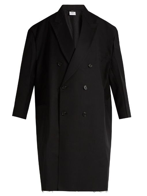 Vetements Woman + Brioni Oversized Double-breasted Wool Coat Black Size XL VETEMENTS Discount Low Shipping Outlet Visit Latest Collections  Buy Cheap Cost wkzhTivAZV