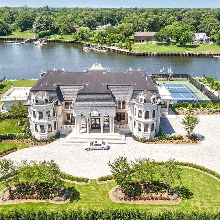 Grand Waterfront Mansion 1170 Seawane Drive Hewlett Ny 12 000 Square Feet 7 Bedrooms 7 Bathrooms 29 999 500 N Casas De Luxo Interior Luxuoso Casas