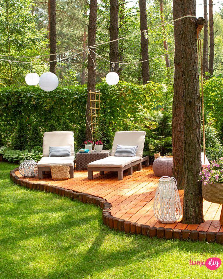 Nowy drewniany taras w moim leśnym ogrodzie - Twoje DIY
