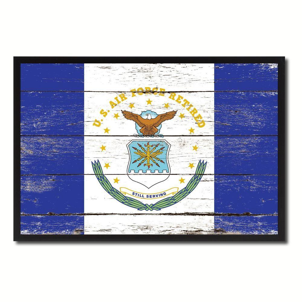 US Air Force Retired Flag Art 8323 Shabby Chic Gift Ideas Office ...