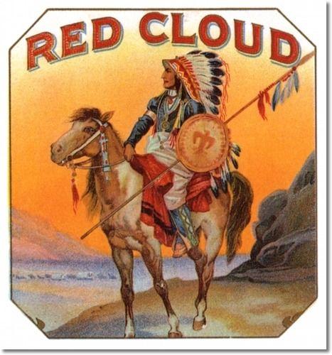cigar labels | Cigar Label Print - 022 - Red Cloud by Cigar Labels | Poster