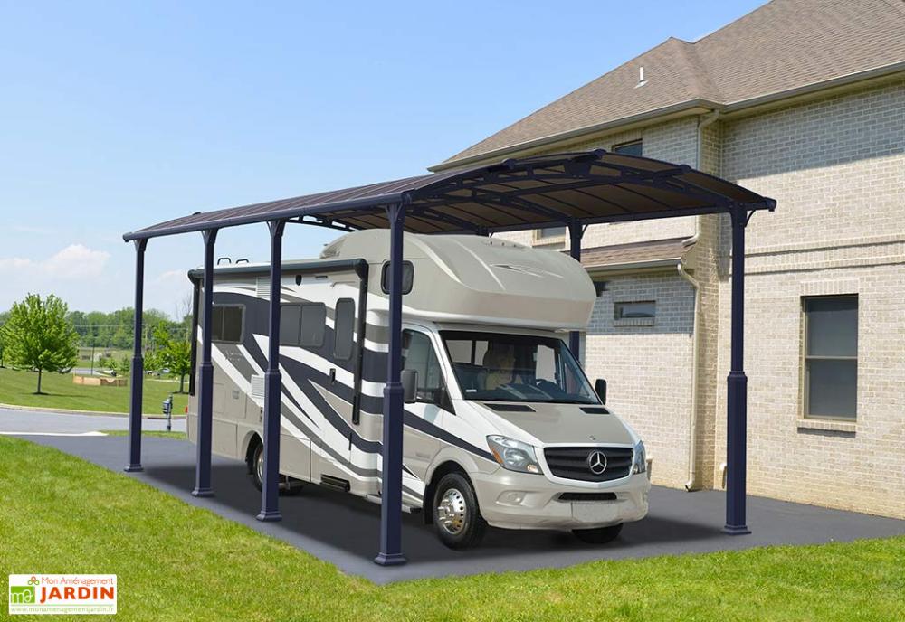 Carport CampingCar Aluminium et Polycarbonate Alpine 8500