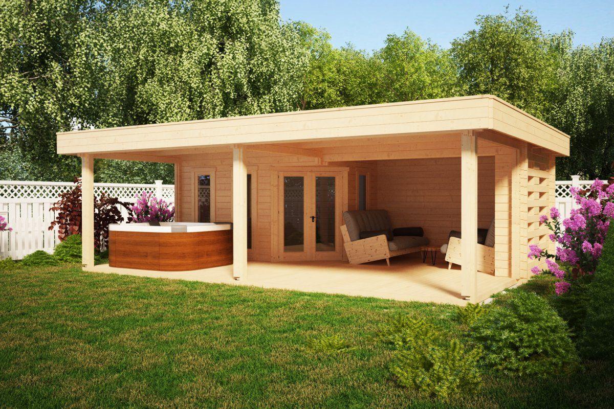 Photo of Casa de jardín con gran terraza jardín paraíso a 10m2 / 58mm / 6×8 – hansagarten24