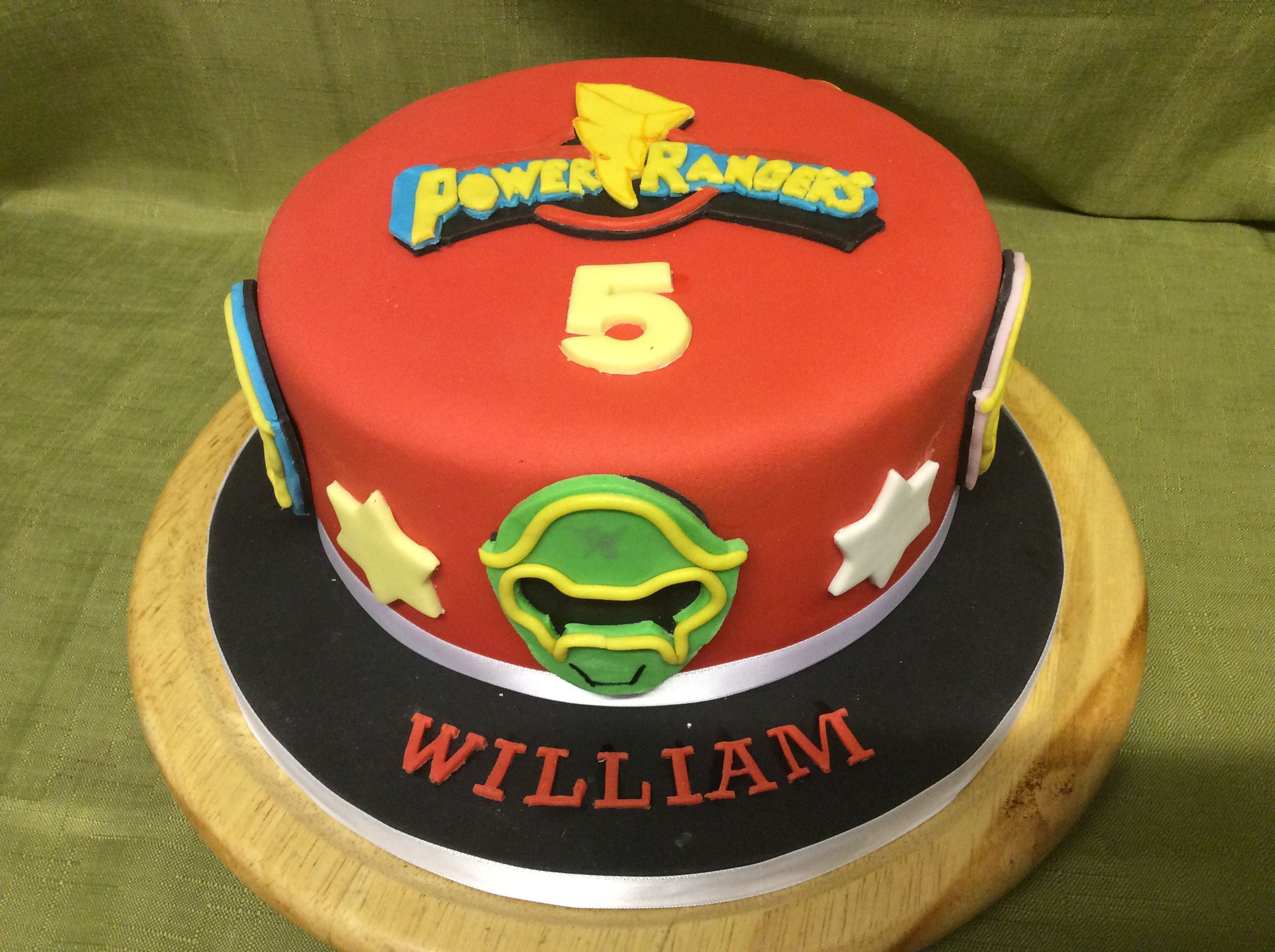 Power Rangers Cake In Lemon And Buttercream All Handmade From