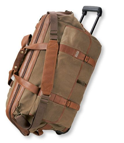 Maine Guide Rolling Duffle Waxed Canvas Collection Free Shipping At L Bean