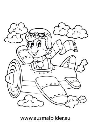 Ausmalbild Pilot Ausmalbilder Ausmalen Ausmalbilder Kinder
