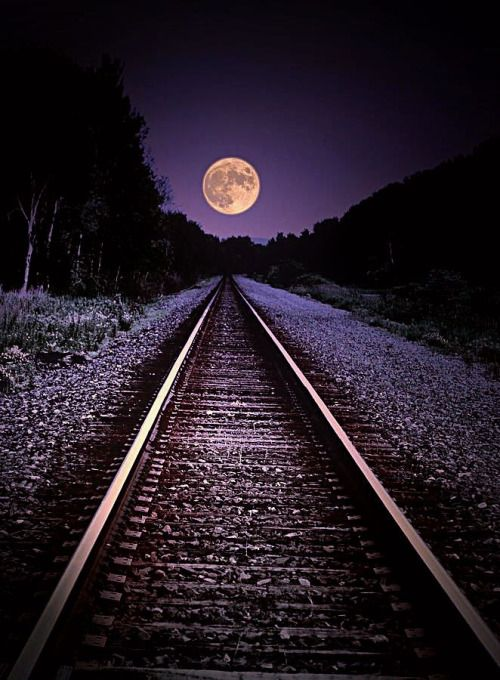 Track To The Moon… Photograph by Emily Stauring
