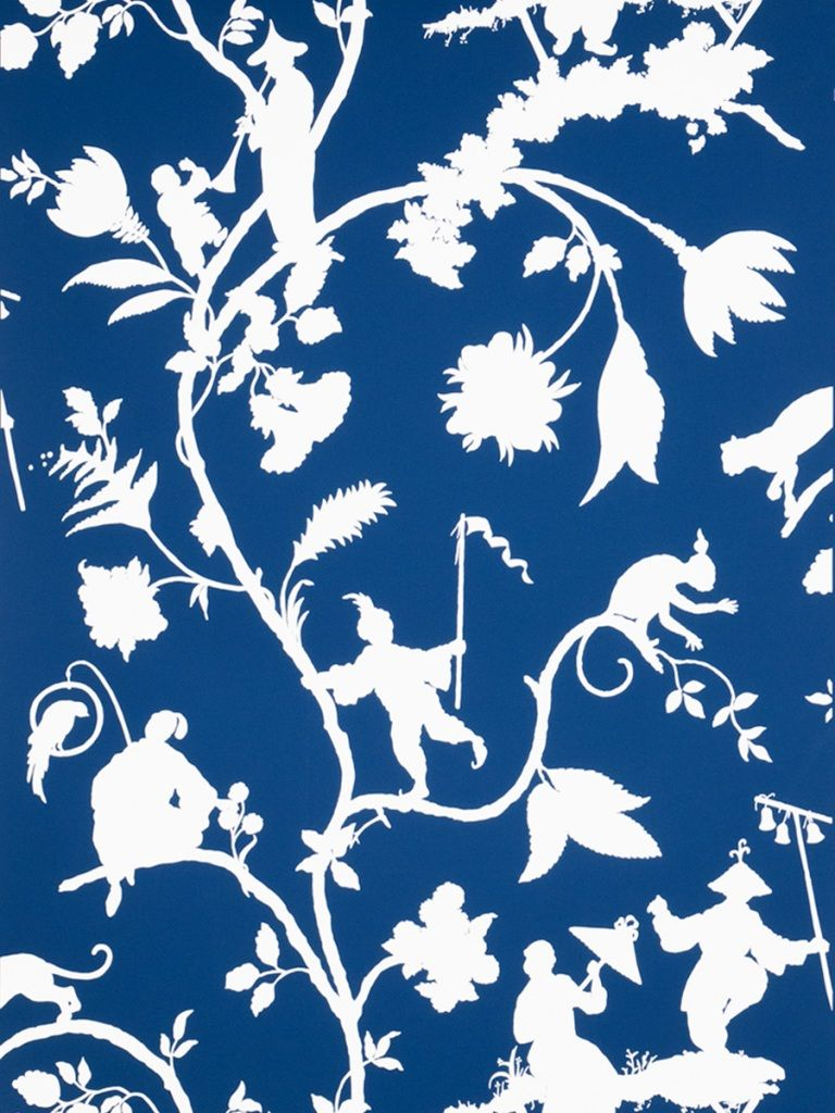 Stroheim Cathay Pastora Wallcovering In Blue White