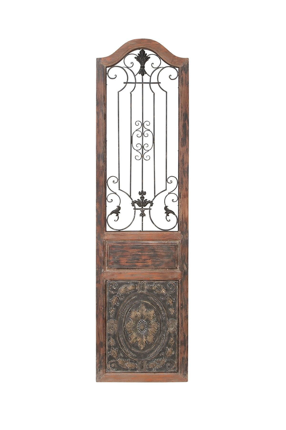 Willow Row Brown Traditional Arched Wood Wall Decor Hautelook Metal Wall Decor Decorative Wall Panels Wood Wall Decor