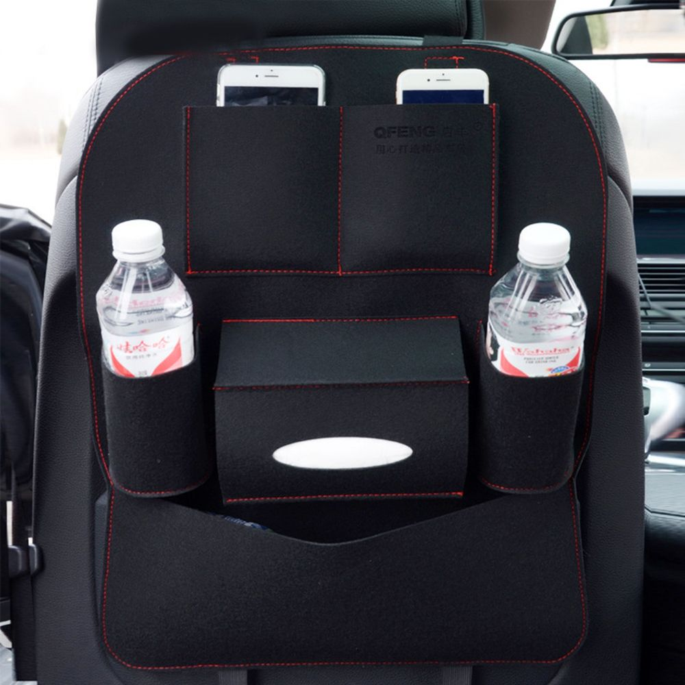 Auto Car Seat Back Multi-Pocket Storage Bag Organizer Holder Hanger Accessory