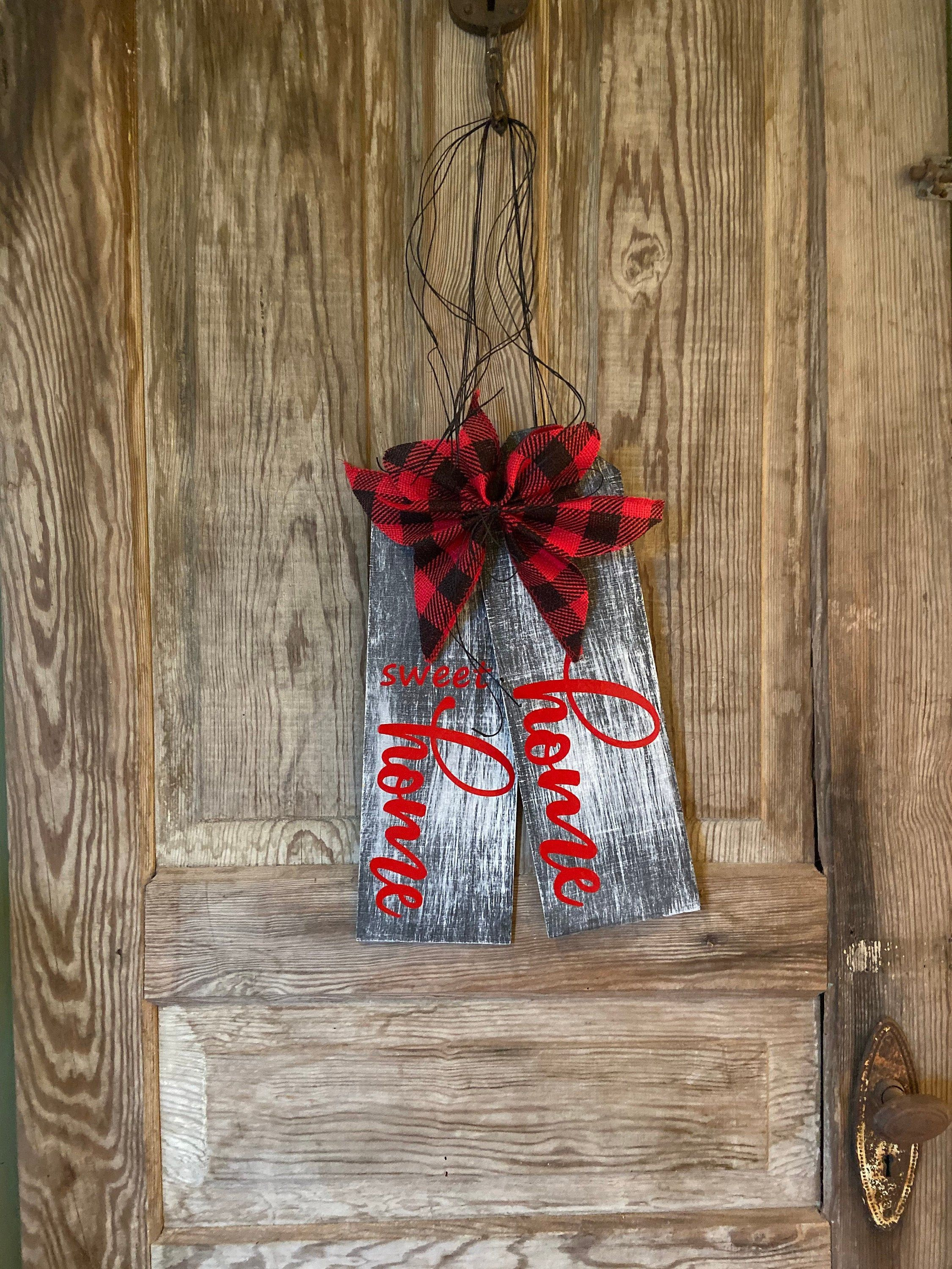 Large Home Sweet Home Wood Door Tags by