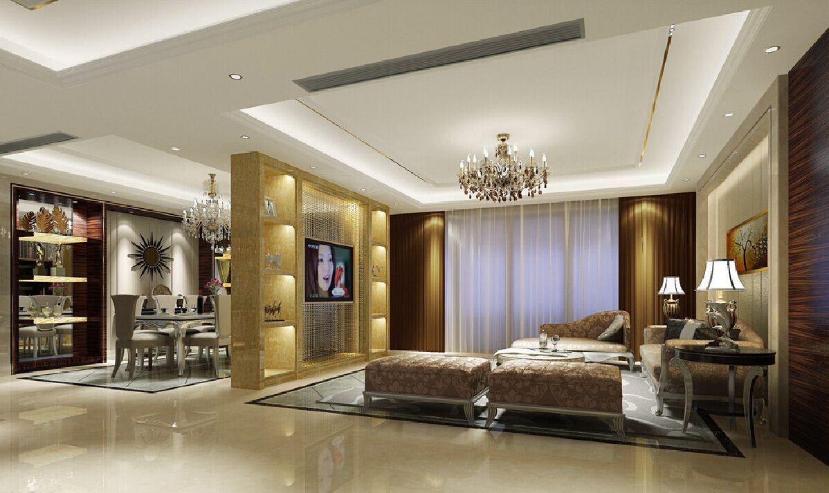 Partition Wall With Tv Design