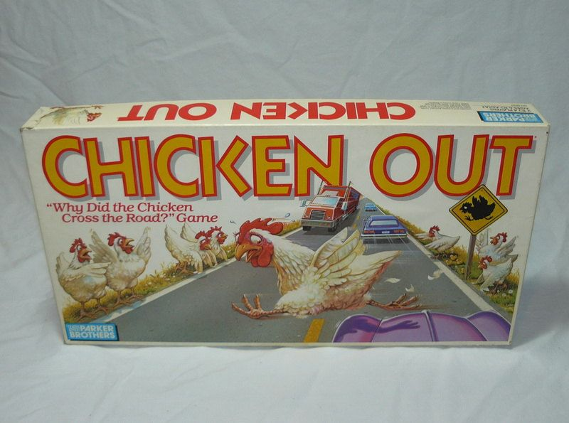 CHICKEN OUT GAME Parker Brothers 1988 Complete & Excellent Condition. $19.95, via Etsy.