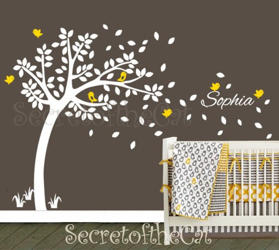 nursery wall decal. wall decals nursery. nursery decal. tree and