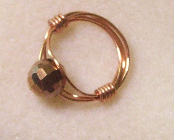 Copper 20 gauge wire ring 10 mm copper bead size 7 12 free copper 20 gauge wire ring 10 mm copper bead size 7 12 free keyboard keysfo Choice Image