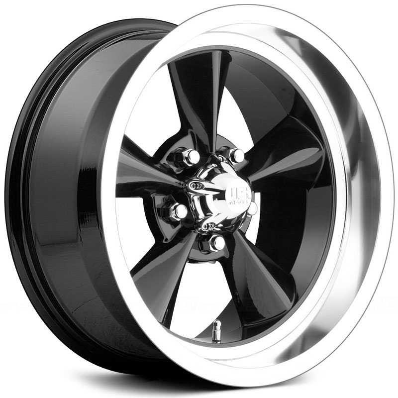 Us Mags Standard U107 18x9 Black W Polished Lip Rwd Wheels And Rims In 2020 Black Wheels Wheel Rims Wheels And Tires