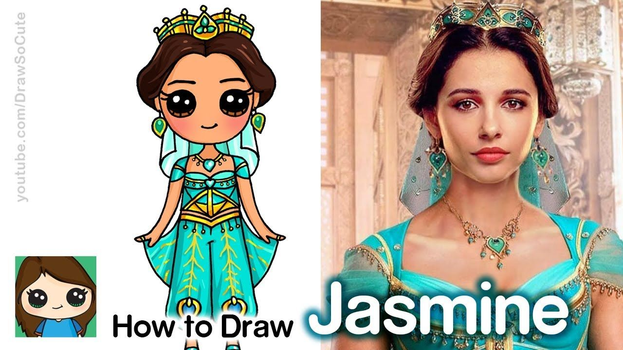 How To Draw Princess Jasmine Disney Aladdin New Youtube With