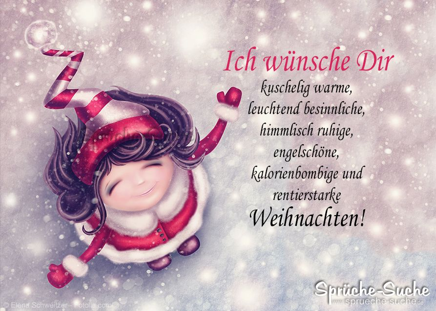Weihnachtskarte – Was ich Dir alles wünsche…
