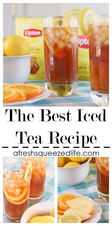 Basic Iced Tea Recipe Sweet Tea Recipes Tea Recipes Iced Tea