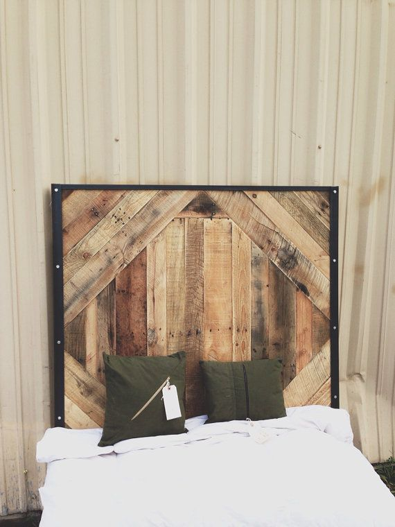 Reclaimed Wood Headboard for twin bed // queen by triple7recycled ...