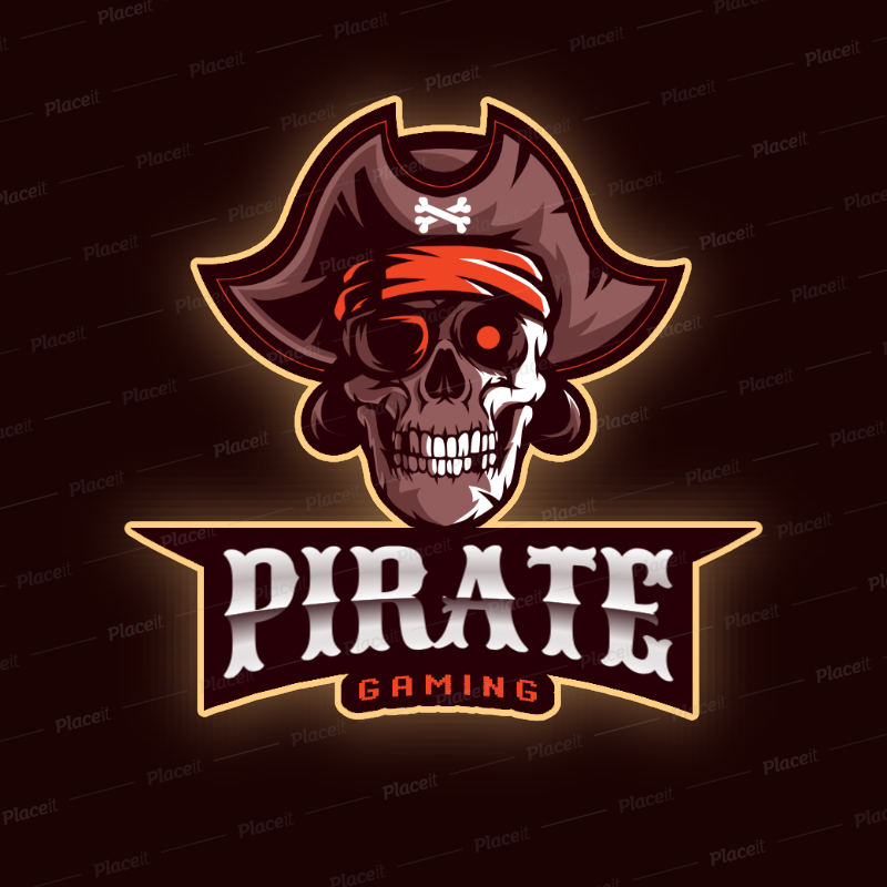 Gaming Logo Maker with PirateThemed Illustrations 2811