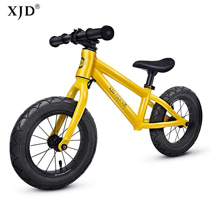 81df2e18e01 XJD 12 Kids Balance Bike No Pedal Walking Bicycle Lightweight Aluminum  Frame Adjustable Seat Air Tires for Boys or Girls Ages 2 to 6 Years Old  Review