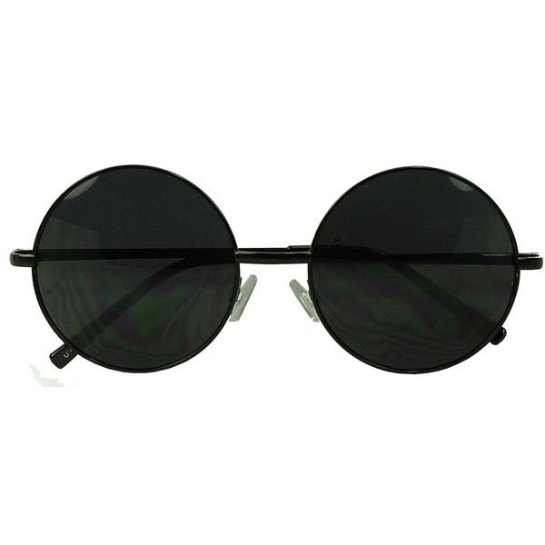 a38ce7891065 Womens Large Oversize Round Metal Vintage Vault Circle Xl Sunglasses  (£6.89) ❤ liked on Polyvore featuring accessories