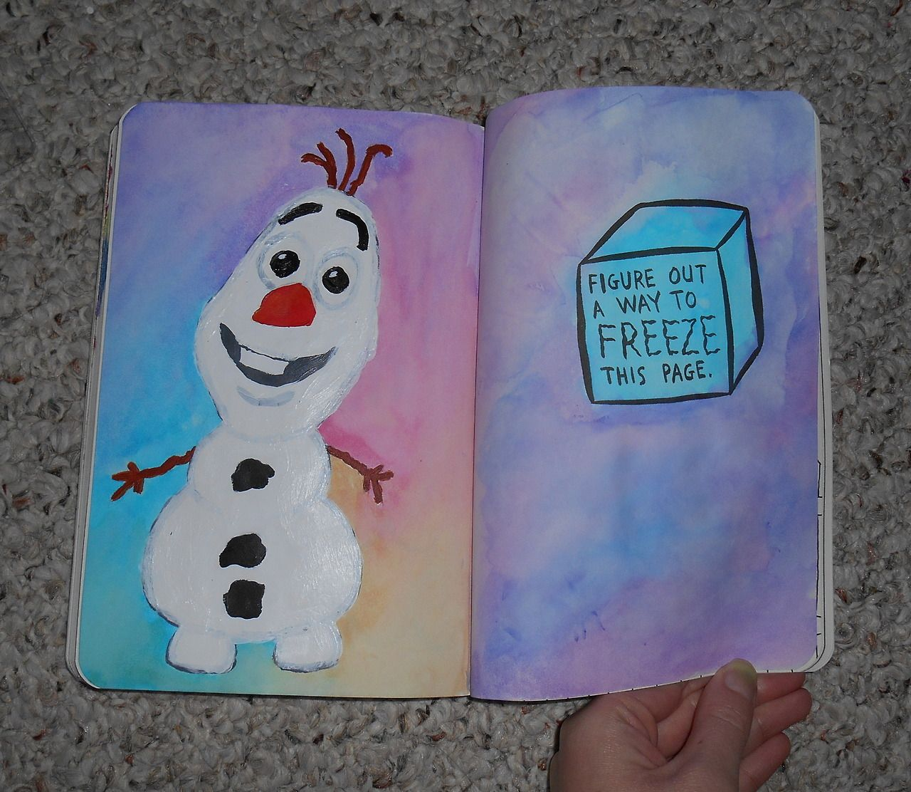 Figure Out a Way to Freeze this Page. Olaf seemed fitting