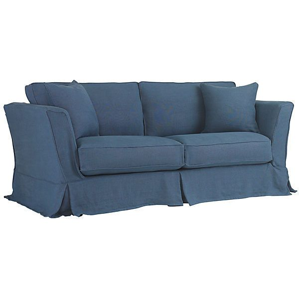 Shabby Chic Loft 87 Slipcovered Sofa Indigo Linen Sofas Loveseats Chic Furniture Shabby Chic Furniture Shabby Chic Couch