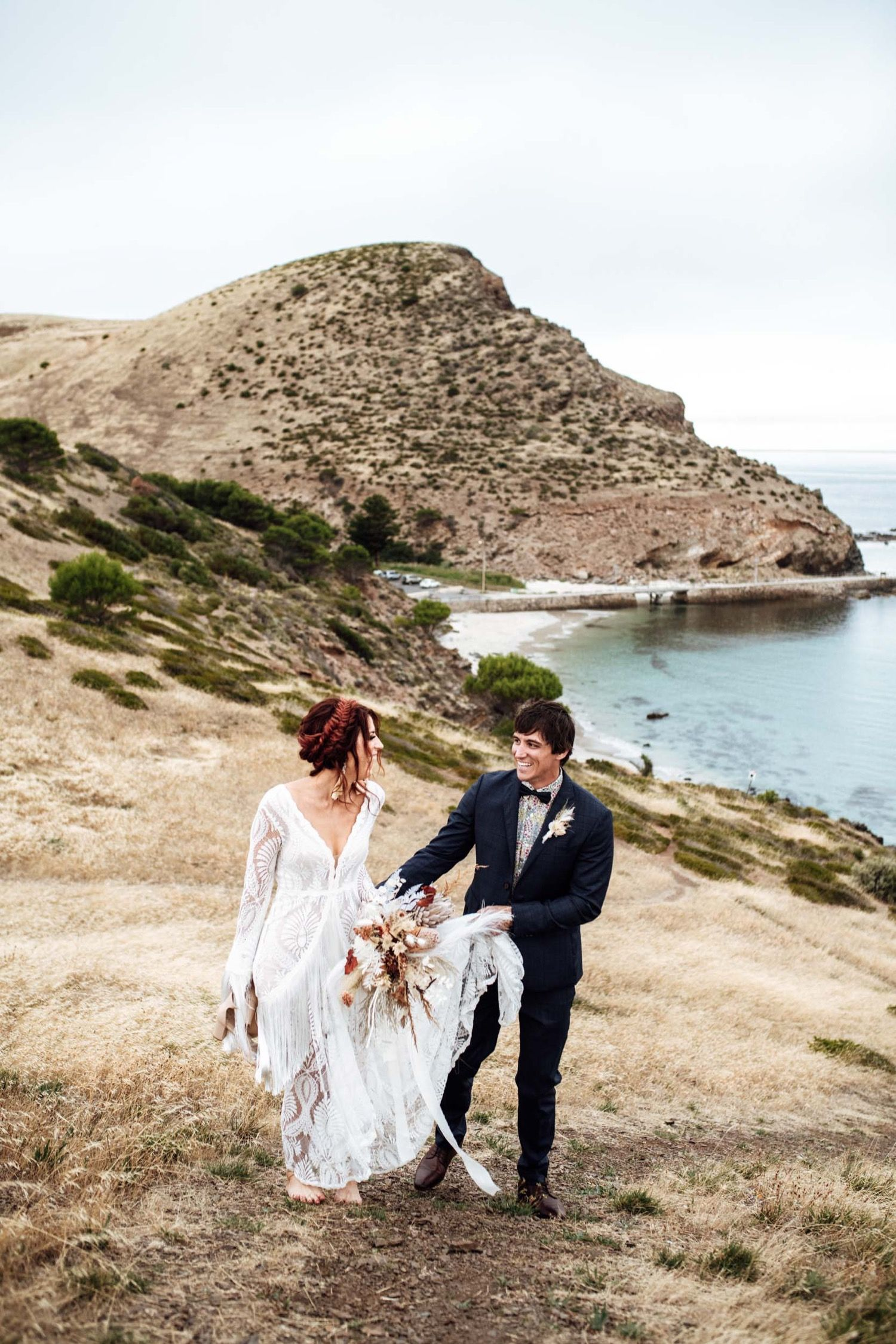 Luxe Boho inspiration dress, Adelaide Wedding Photographer
