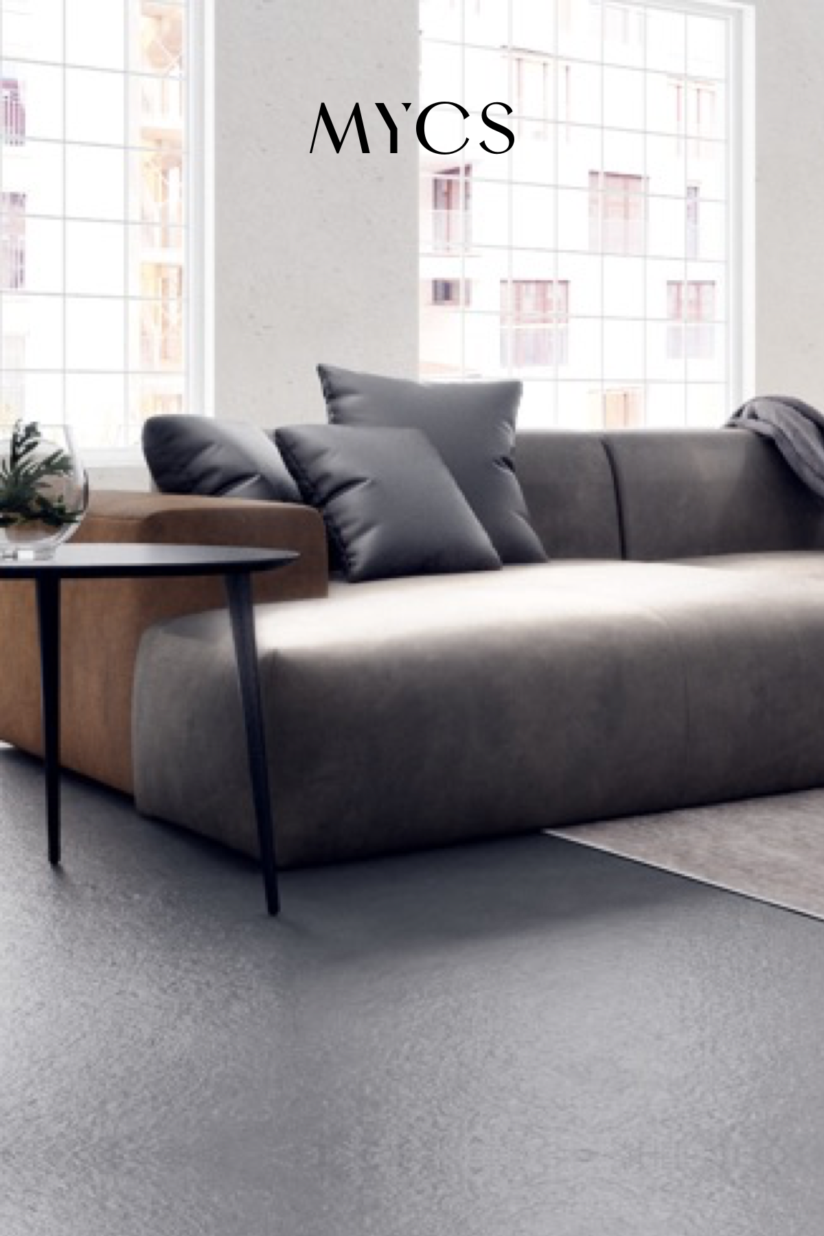 Your cosy leather sofa with MYCS in 2020   Ledersofa, Sofa ...